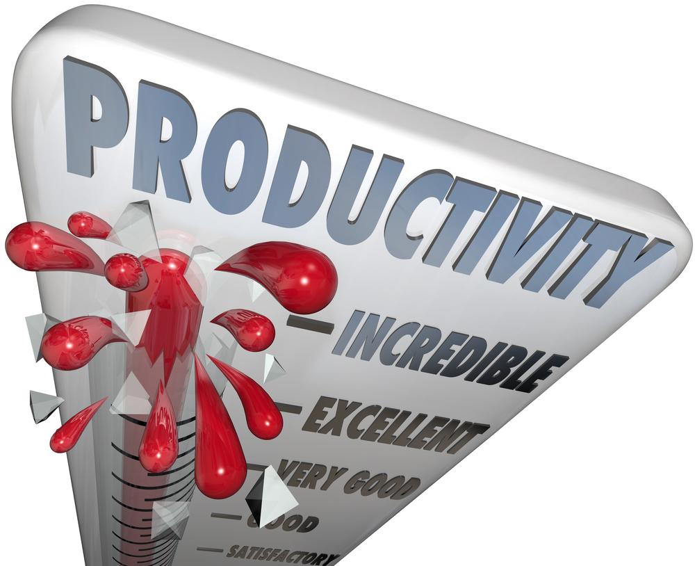 Picture of temperature gauge bursting productivity